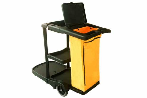 Janitor Cart Trolley - BLACK