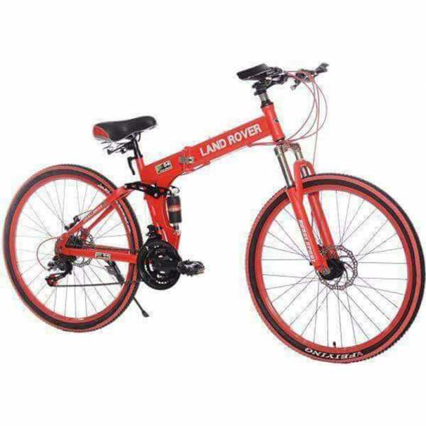 Land Rover 26 Inch Bicycle, Red