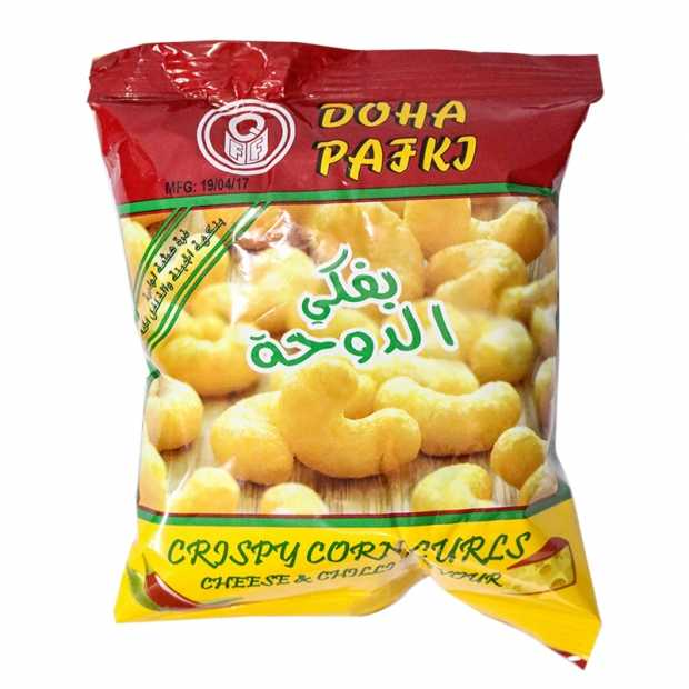 Doha Pafki Crispy Corn Curls 15 GM X 30 Packets Per Bag